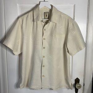 JAMAICA JAXX Mens Hawaiian Silk Brocade Shirt SZ M